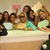 Susana Vieira vira atração em inauguração de loja infantil de Aline Barros