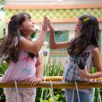 Bárbara (Renata Randel) e Frida (Sienna Belle) armam para Dulce Maria (Lorena Queiroz) não participar do show de talentos que vai acontecer no colégio Doce Horizonte, no capítulo que vai ao ar segunda-feira, dia 26 de março de 2018, na novela 'Carinha de Anjo'