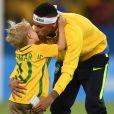 Neymar curtiu o dia de descanso ao lado do filho, Davi Lucca