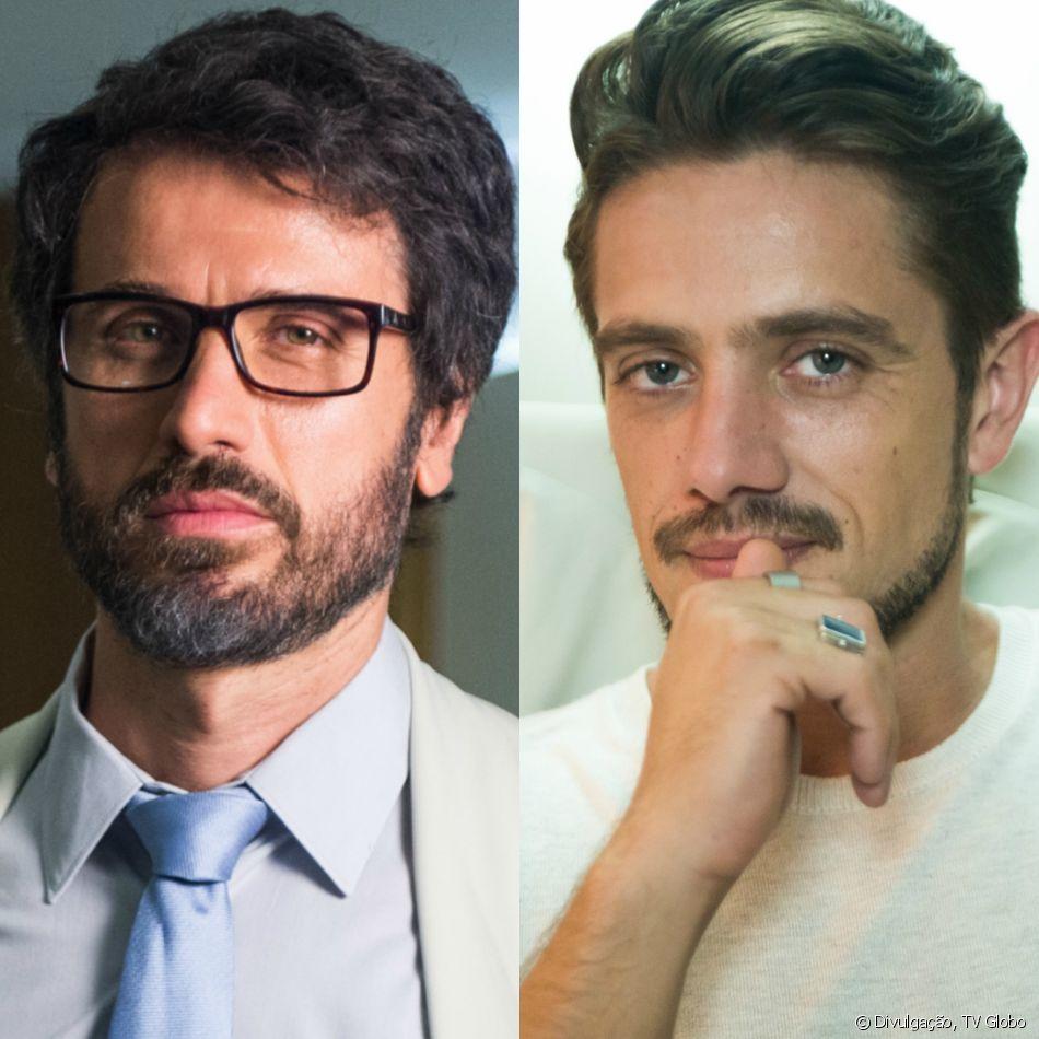 Samuel (Eriberto Leão) é acusado de assédio sexual por Renato (Rafael Cardoso), na novela 'O Outro Lado do Paraíso'