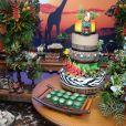 Viviane Araújo escolheu o tema África para sua festa