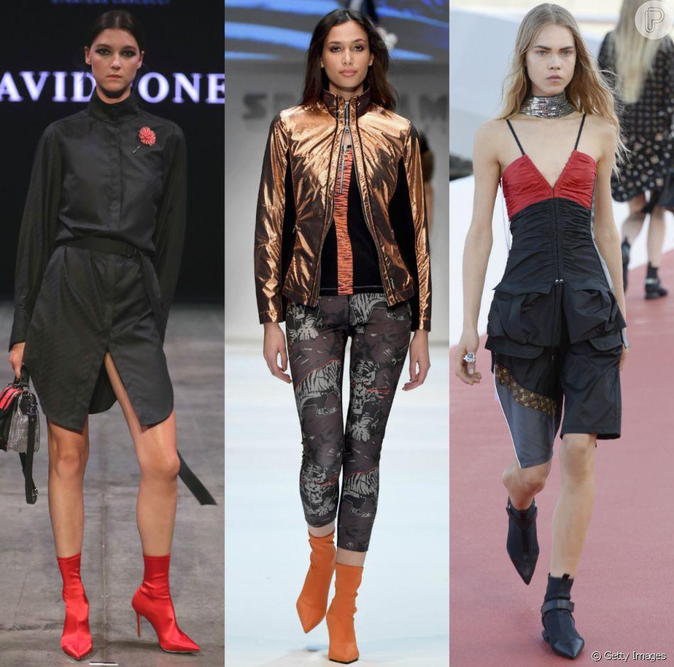 Sock boots: veja modelos de bota-meia e inspire-se na tendência do inverno 2018