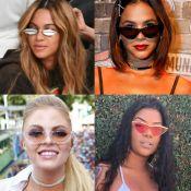 Retrô é fashion! Óculos com pegada vintage viram queridinhos de famosas. Fotos!