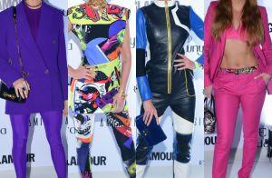 Divertido e colorido: famosas chamam atenção com looks modernos em prêmio. Fotos