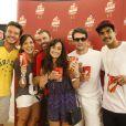 Marcelo Faria, Nando Rodrigues e famosos assistem ao jogo da França e Equador no Maracanã, no Rio