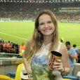 Fernanda Rodrigues assiste ao jogo da França e Equador no Maracanã, no Rio
