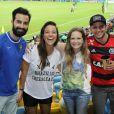Famosos assistem ao jogo da França e Equador no Maracanã, no Rio