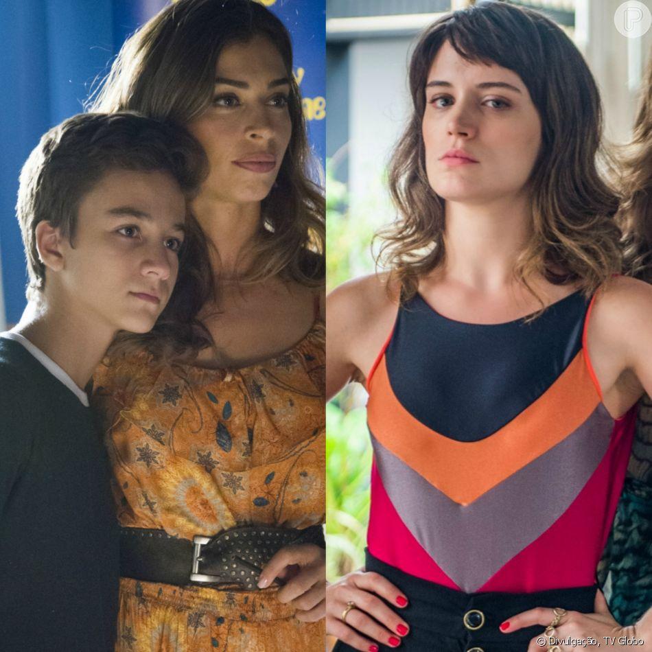 Tomaz (Vitor Figueiredo) se recusa a morar com Clara (Bianca Bin) e diz ser filho de Lívia (Grazi Massafera), na novela 'O Outro Lado do Paraíso'