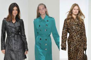Dois em um! Trench coat como vestido é peça-chave para o inverno 2018