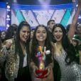 Eduarda Brasil foi a grande campeã do programa 'The Voice Kids' neste domingo, 8 de abril de 2018
