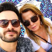 Zilu Camargo posa com o namorado, Marco Antonio Ruggiero: 'Amando cada momento'