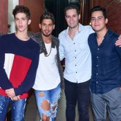 João Guilherme se reúne com irmãos em gravação de DVD do pai, Leonardo. Fotos!