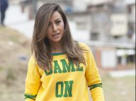 Sabrina Sato joga futebol com blusa do Brasil e entrevista Cafu em programa