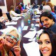 Carla Diaz nas leituras com o elenco da série 'Plano Alto'