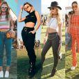 Botas, óculos retrô e pochetes: os looks estilosos usados no Coachella 2018, realizado na Califórnia, nos Estados Unidos
