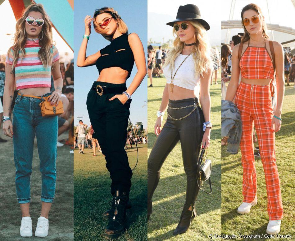 d85dd3e5f64d6 Botas, óculos retrô e pochetes  os looks estilosos usados no Coachella  2018, realizado