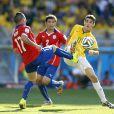 Seleção Brasileira passa sufoco em jogo contra o Chile neste sábado, 28 de junho de 2014