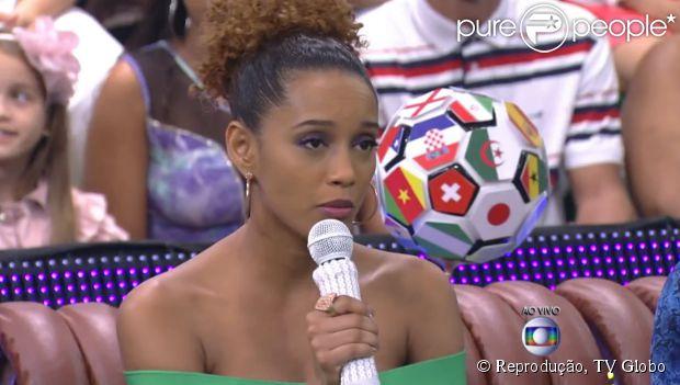 "Taís Araújo participa do programa 'Esquenta!"" na tarde deste domingo, 29 de junho de 2014"