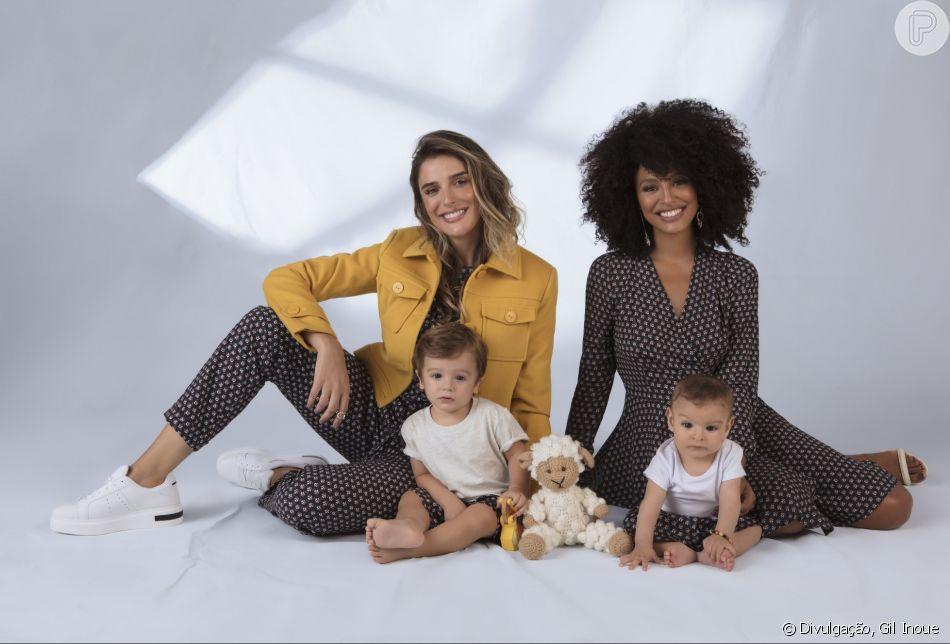 Sheron Menezzes e Rafa Brites  estrelaram a campanha para o Dia das Mães com os filhos