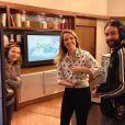 Mariana Ferrão e Fernando Rocha brincaram com o ocorrido e pediram para os telespectadores darem sua opinião sobre o lance