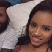 Ex-BBB Gleici grava vídeo na cama com Wagner: 'Olha com quem que eu estou'