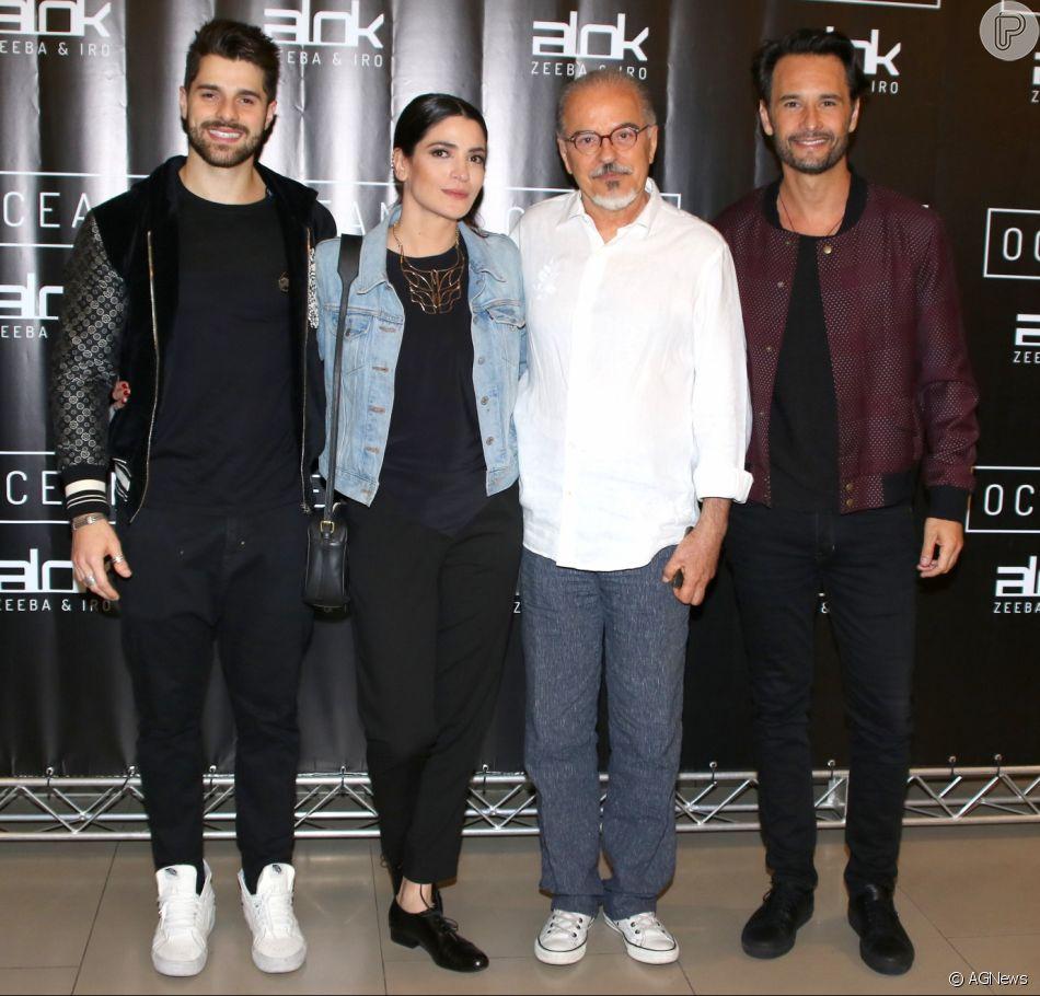 Rodrigo Santoro na festa de lançamento do clipe 'Ocean', do DJ Alok, em São Paulo, na terça-feira, 24 de abril de 2018.  Maria Manoella e Genézio de Barros prestigiaram o evento