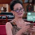 Haydee (Clarice Niskier) conversa com Dedé, que na verdade é Adolfo (Luiz Guilherme), e é convidada para um encontro pessoal, no capítulo que vai ao ar sexta-feira, dia 4 de maio de 2018, na novela 'Carinha de Anjo'