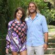 Isabella Santoni e Caio Vaz prestigiaram um evento de moda na tarde desta quinta-feira, 26 de abril de 2018