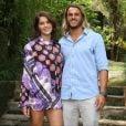 Isabella Santoni posou para fotos com namorado, Caio Vaz, na tarde desta quinta-feira, 26 de abril de 2018