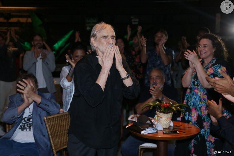 Francisco Cuoco foi aplaudido no lançamento da nova novela da TV Globo, 'Segundo Sol'