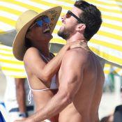 Romance e diversão! Juliana Paes beija o marido e brinca com os filhos na praia