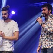 Luan Santana faz dueto com Padre Fábio de Melo e Dilsinho em show. Vídeos!