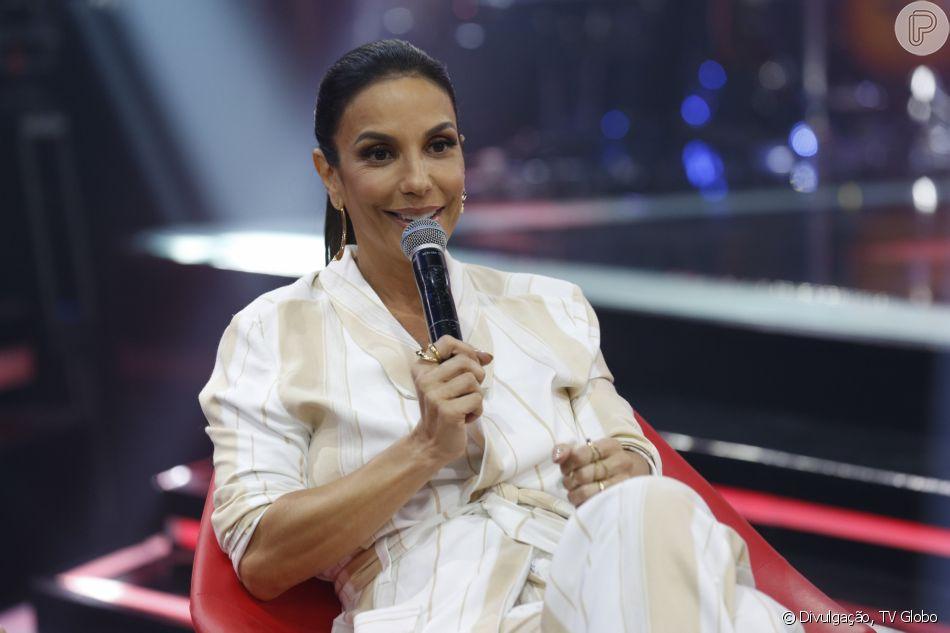 Ivete Sangalo citou diferença entre filhas, durante entrevista ao programa 'Fofocalizando', do SBT: 'Helena é da pá virada. Marina é paz e amor'