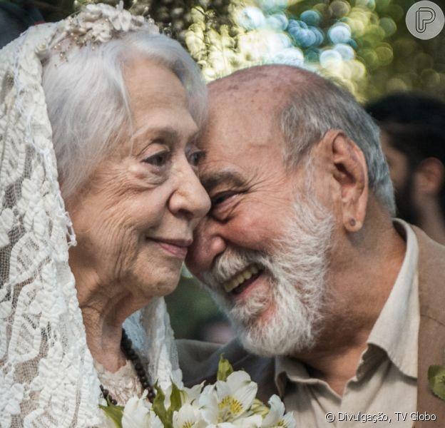 Josafá (Lima Duarte) surpreende Mercedes (Fernanda Montenegro) com pedido no último capítulo da novela 'O Outro Lado do Paraíso': 'Quero que você seja minha mulher de verdade. Quero te beijar'