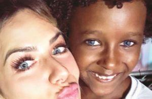Giovanna Ewbank se encanta com modelo infantil: 'Nosso futuro genro'. Vídeo!