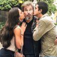Edson Celulari é pai de Enzo e Sophia, ambos frutos do casamento com Claudia Raia