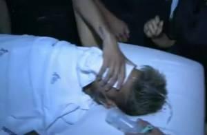 Chorando e escondendo o rosto, Neymar recebe alta de hospital em Fortaleza