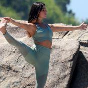 Isis Valverde explica yoga durante a gravidez: 'Não faz mal para o bebê'