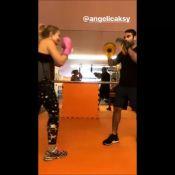Personal mostra treino de muay thai com Grazi Massafera e Angélica: 'Treta'