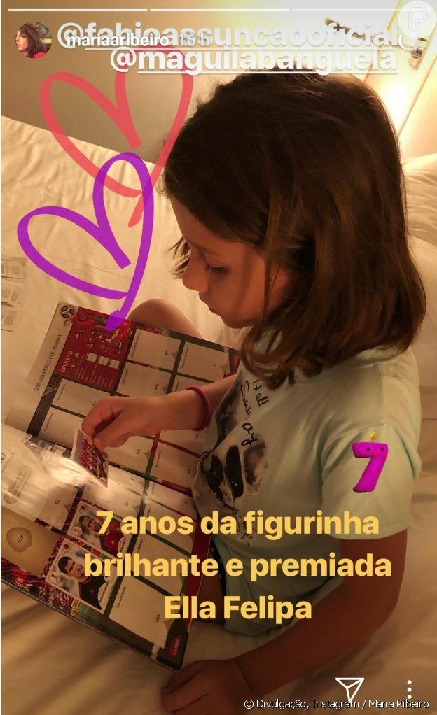 Mariana Ribeiro parabenizou Ella Felipa, filha de Fabio Assunção, pelo aniversário de 7 anos