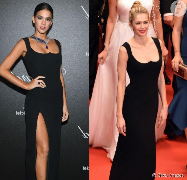 Vera Brezhneva repete vestido Versace já usado por Bruna Marquezine em Cannes