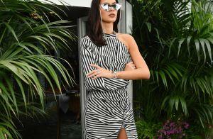 Bruna Marquezine orna óculos de gatinho com vestido P&B em Cannes. Veja o look!
