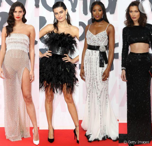 Sara Sampaio, Isabeli Fontana, Naomi Campbell, Bella Hadid e mais modelos prestigiam oFashion for Relief, em Cannes, na França, neste domingo, 13 de maio de 2018