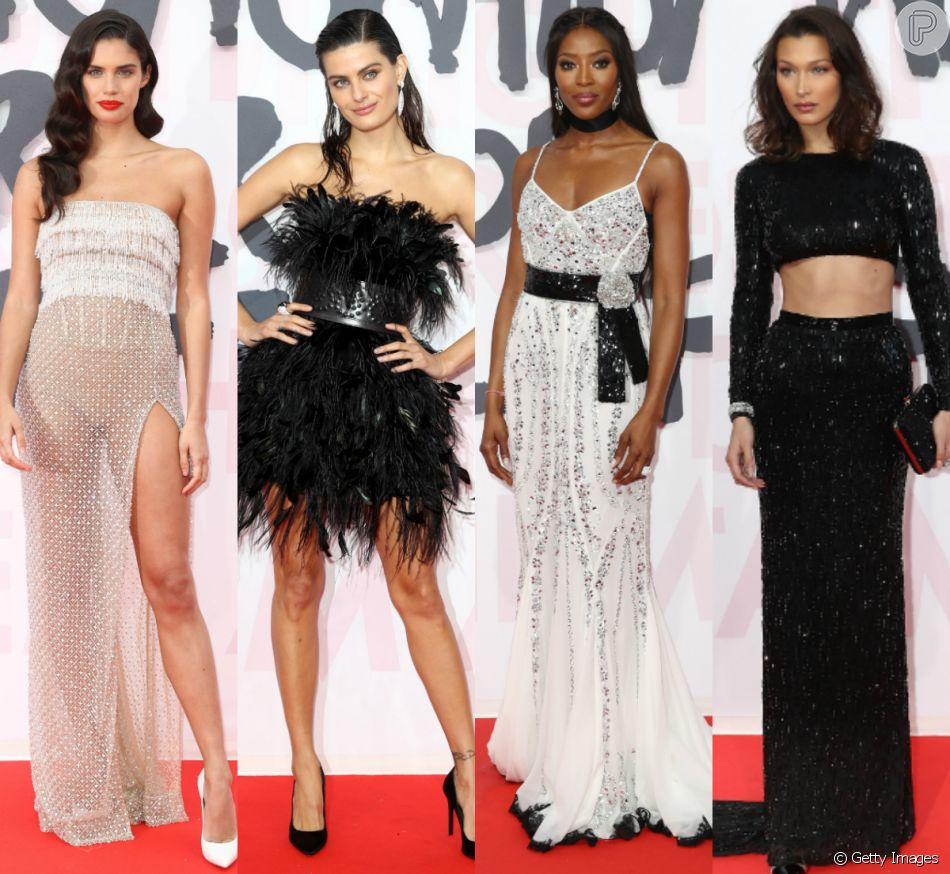 Sara Sampaio, Isabeli Fontana, Naomi Campbell, Bella Hadid e mais modelos prestigiam o Fashion for Relief, em Cannes, na França, neste domingo, 13 de maio de 2018
