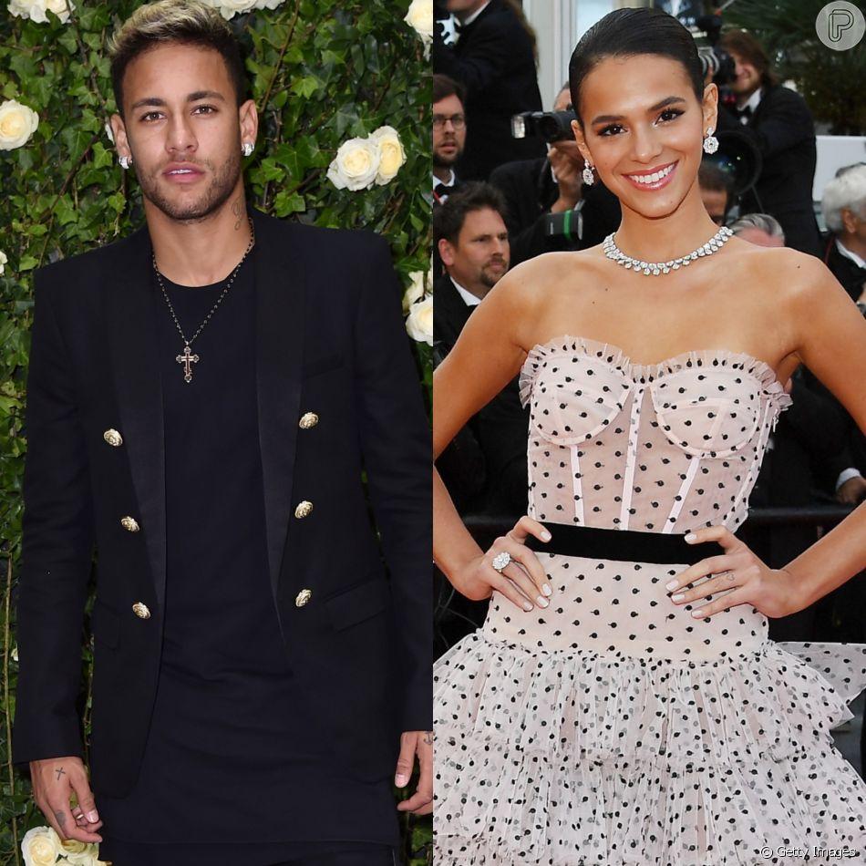 Bruna Marquezine é elogiada por Neymar em post com fotos tiradas no Festival de Cannes neste domingo, dia 13 de maio de 2018