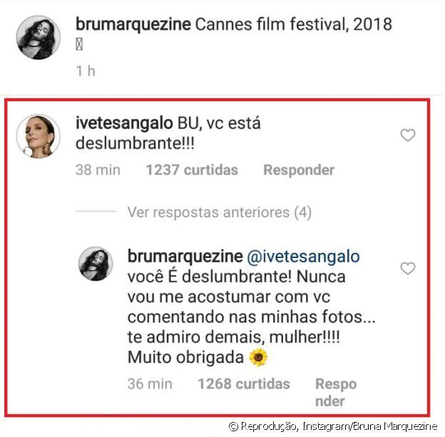Bruna Marquezine, elogiada por Ivete Sangalo, retribui: 'Você é deslumbrante'