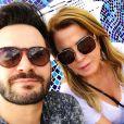 Zilu Camargo fez um post romântico para o namorado, Marco Augusto Ruggiero, na web