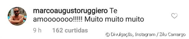 Zilu Camargo ganhou uma declaração do namorado após mostrar beijo do casal