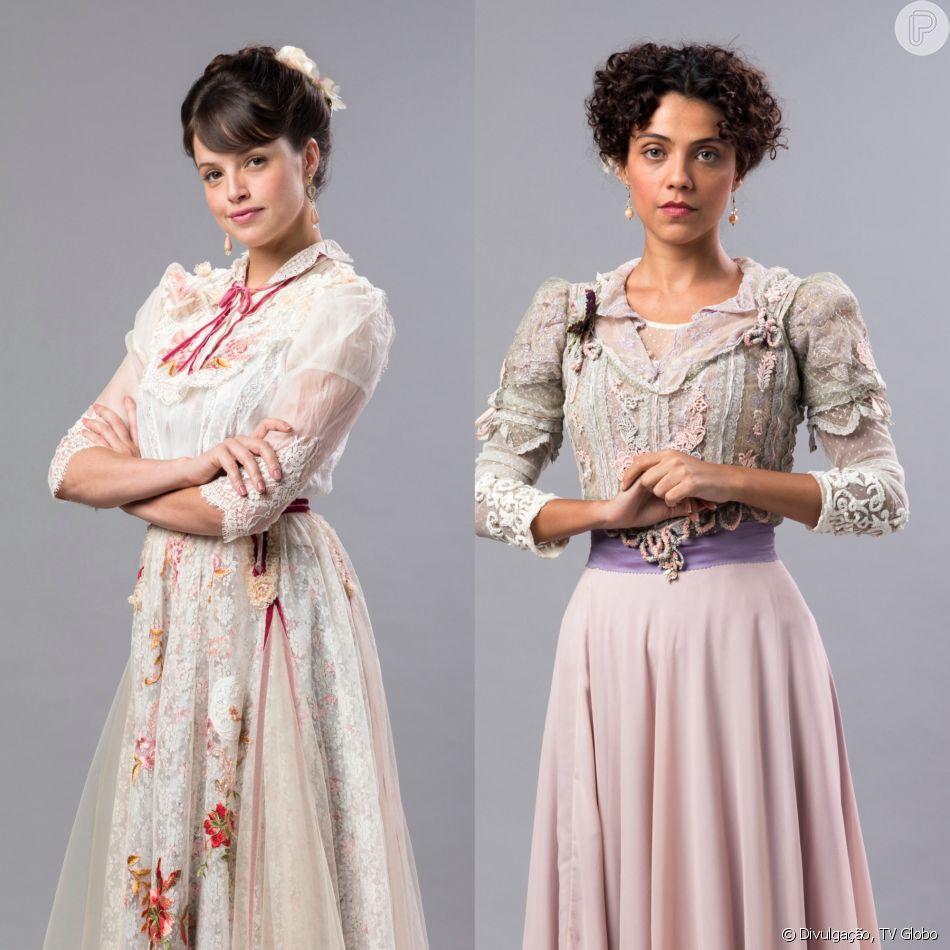 Ema (Agatha Moreira) causa a revolta em Amélia (Letícia Persiles) ao ajudar Tenória (Polly Marinho) na novela 'Orgulho e Paixão'