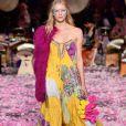 A designer Camilla Franks fez desfile inspirado em suas viagens ao Japão em show de encerramento no Mercedes Benz Fashion Week na quinta-feira, 17 de maio de 2018